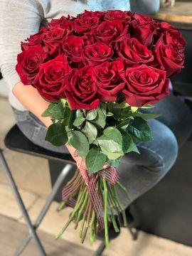 Роза красная моно